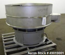 Used- Kason Vibrating Screen Separator, Model K-48-1-SS, 304 Stainless Steel.