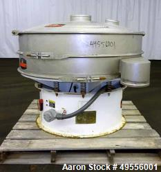 Used-Kason Vibrating Screen Separator, Model K-48-1-SS, 304 Stainless Steel.