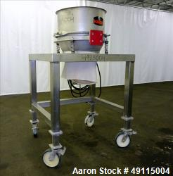 "Used- Kason Drum Sifter / Sieve, Model KDS24-SS, 24"" Diameter, 304 Stainless Ste"
