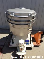 Used- Minox Tumbler Screening Machine, Model MTS1000/2. Stainless Steel, Double Deck, 3 Separation, Stainless Steel Top Cove...