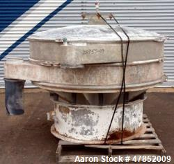 "Used- Sweco 60"" Vibro Energy Separator, Model LS60S8888, Stainless Steel."