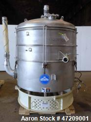 Used- Sweco Pneumatic In-Line Pressure Sifter, Model PS60S241212, 304 Stainless