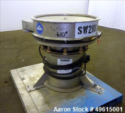 "Used-Sweco 30"" diameter Single Deck Screen.  Stainless steel."