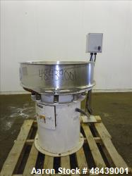 "Used- Sweco Scalper Screener 30"" Diameter 316 Stainless Steel(Incomplete)."