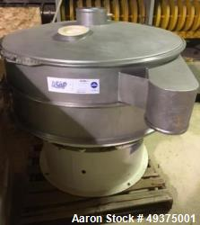 "Used- Sweco Screener, 48"" Diameter, Stainless Steel. Single deck, 2 separation. Mounted on a carbon steel frame."