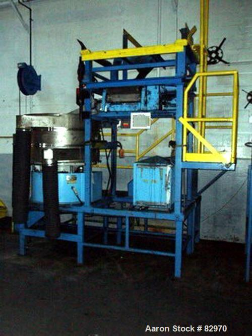 "USED: Midwestern screener, model ME4898-8-8. 48"" diameter, stainless steel construction, 2 deck design, on base with 3 hp 23..."