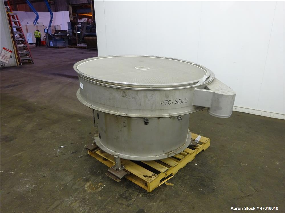 "Used- Midwestern Industries Screener, Model ME60S8-4-4-4, 304 Stainless Steel. 60"" diameter, single, 1 separation. Driven by..."