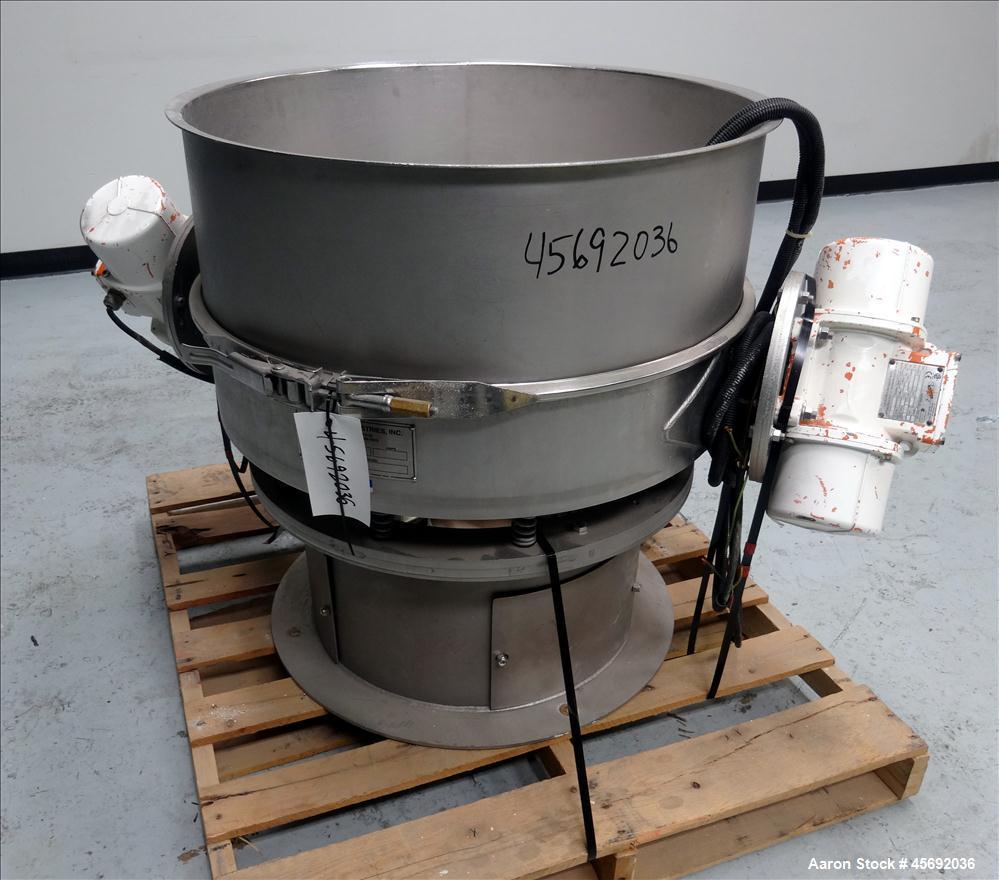 "Used- Midwestern Industries Sifter/Scalper Model # MLP30S6-10, 304 Stainless Steel. 30"" diameter, single deck, 1 separation...."