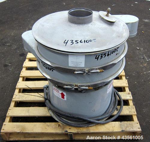 "Used- Midwestern Industries Screener, Model MR24C4-4, Carbon Steel. 24"" Diameter single deck, 2 separation. 321 Stainless st..."