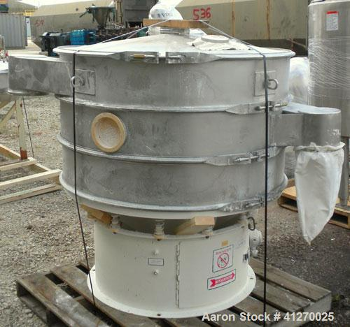 """Used- Microner (Sweco Type) Screener, Model GS48-2-22, 304 Stainless Steel. 48"""" diameter, double deck, 3 separation. Stainle..."""