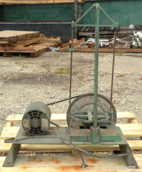 """Used- W.S. Tyler Sieve Shaker, Carbon Steel. Can handle approximately 8""""diameter pans, 18'' tall tray holder height. Driven..."""
