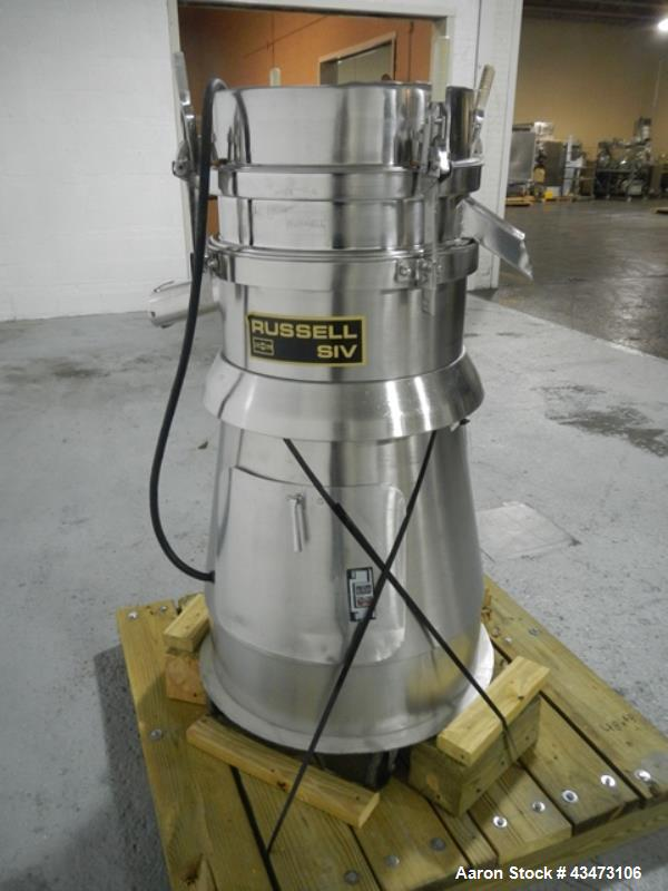 Used- Stainless Steel Russel Sieve, model 17300