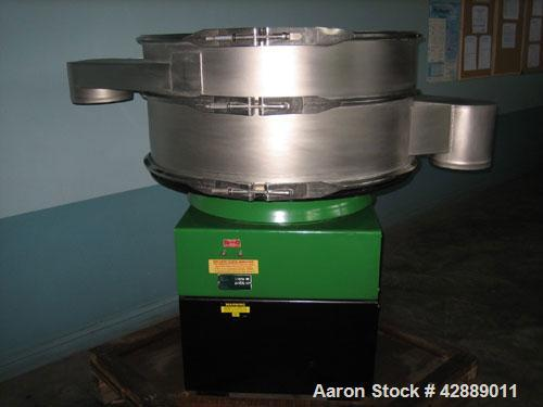 Used-Russel Finex Sifter Machine, Model 25070.  1.5 Hp motor, totally enclosed, fan cooled, dual voltage, Star connection 38...