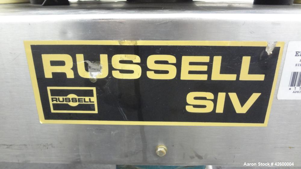 "Used- Russell Finex Airswept Sieve, Model AS 140, 304 Stainless Steel. 20"" Diameter single deck. Clamp down demountable siev..."
