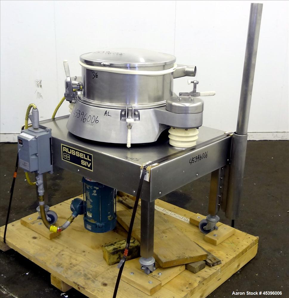 Used- Stainless Steel Russell Finex Airswept Sieve, Model AS140