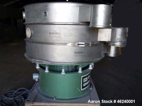 "Used- Russe Finex Eco Circular Sifter. 48"" deck diameter. (3) Decks. New 2010. 50 Hz."