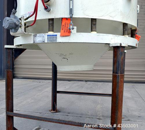 """Used- Sweco Avalanche Flo-Thru Separator, Model FT60C2488WC, Carbon Steel. 60"""" Diameter double deck, 3 separation. Top cover..."""