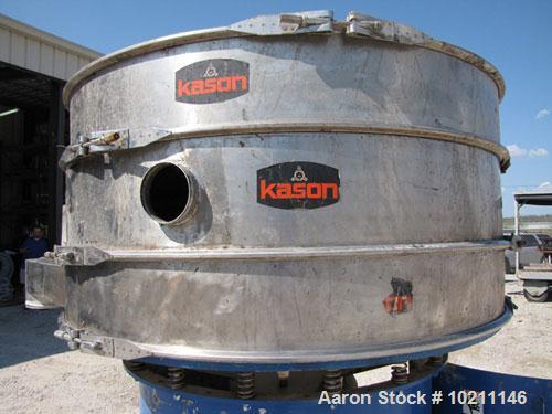 "Used-Kason Screener, Model K60-2-SS, Stainless Steel. 60"" Diameter, 2 deck, 3 separation. Driven by a 1 hp, 3/60/230/460 vol..."