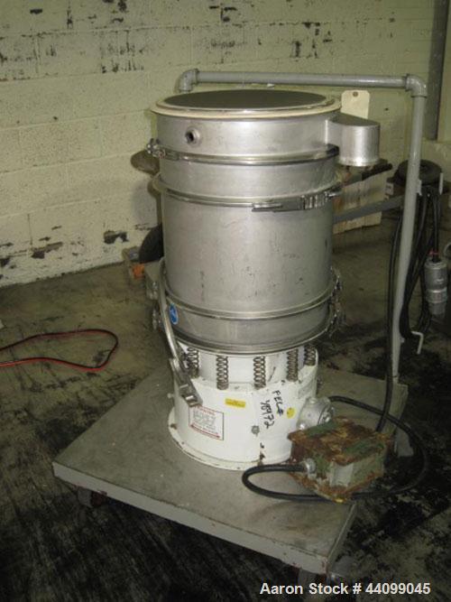 Used- Sweco Screener, Model LS18, Stainless Steel. Three deck. 0.25hp, 3/220 volt motor. Serial#LS18-967-7.