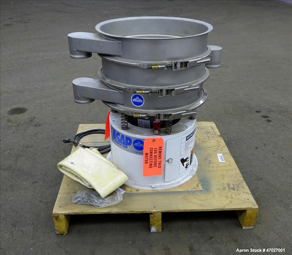 Used- Sweco Screener, Model LS18S333, 304 Stainless Steel