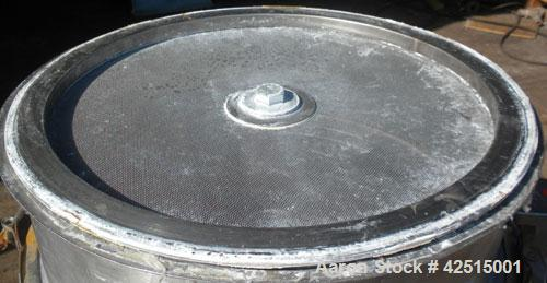 """Used- Sweco Screener, Model LS18S555, 316 Stainless Steel. 18"""" Diameter, single deck 2 separation with top cover. Driven by ..."""