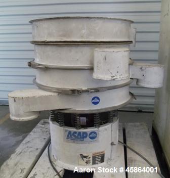 "Used- Sweco Shaker Screen, Model LS 24C4444. 24"" diameter screen, steel construction, 1/3hp Baldor electric motor 440vac 3 p..."
