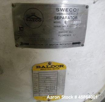 "Used- Sweco Shaker Screen, Model LS 24C4444. 24"" diameter screen, steel construction, 1/3hp Baldor electric motor 440vac 3 p..."