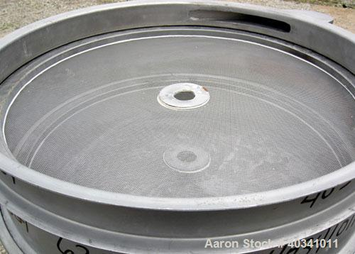 """Used- Sweco screener, model LS24S422HS, 304 stainless steel. 24"""" diameter, double deck, 3 separation. Plexiglass top cover. ..."""