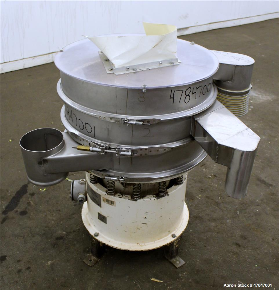 Used- Sweco Screener, Model LS24S444-3-002, 304 Stainless Steel.