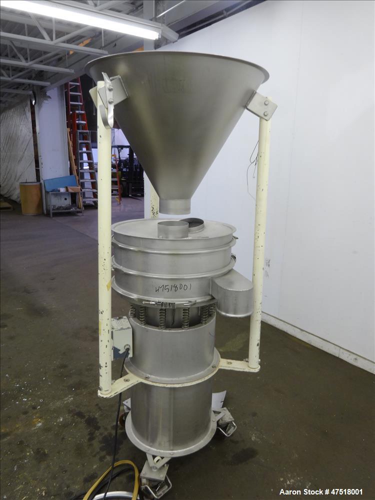 """Used- Sweco Screener Sieve, Model LS24S44, 304 stainless steel, 24"""" diameter,"""