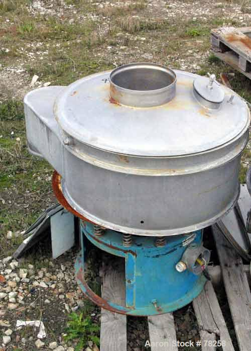 "Used- Sweco Vibro-Energy Separator, Model LS24S82-3-001. 24"" diameter, single deck, 2"" blank spacing frame, 8"" scalping fram..."