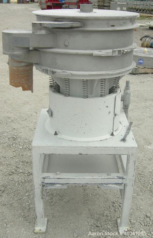 "Used- Sweco screener, model LS24S, 304 stainless steel. 24"" diameter, double deck, 3 separation. Plexiglass top cover. Drive..."