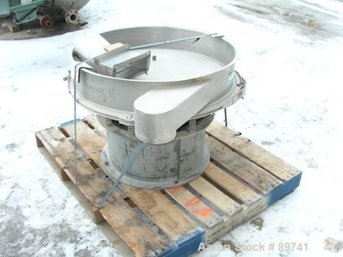 "USED: Sweco screener, model LS30C6, 316 stainless steel. 30"" diameter, bottom deck only, no top cover. Driven by a 1/2 hp, 3..."