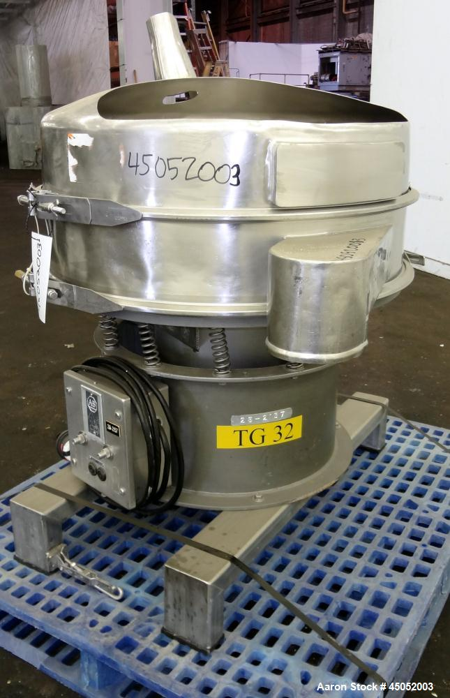 "Used- Sweco Screener, 30"" Diameter, Model LS30S66, 316 Stainless Steel. Single deck, 2 separation, modified top cover. Drive..."
