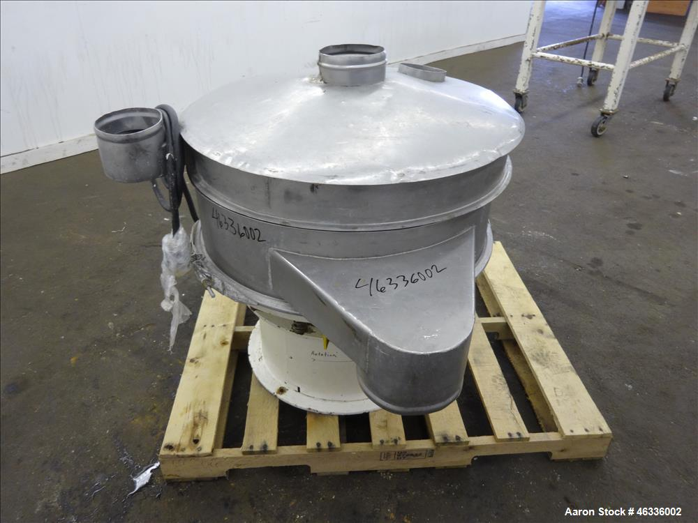 """Used- Sweco Screener, Model LS30S84, 304 and 316 Stainless Steel. 30"""" Diameter, Single Deck, 2 separation with top cover. Dr..."""