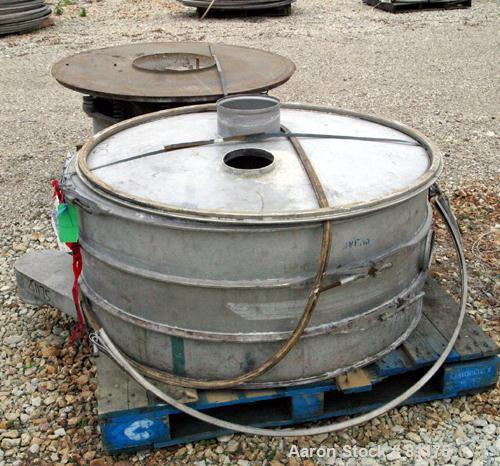 """USED- Sweco Screener, Model LS48S6666. 304 Stainless Steel. 48"""" diameter, double deck, 3 separation, with top cover. Driven ..."""