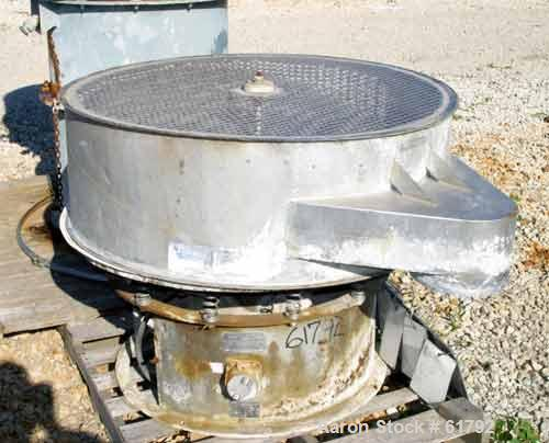 Used- Sweco Screener, Model LS48S86, Stainless Steel. 48'' Diameter, single deck. 2.5 hp, 230/460/1200. Mounted on carbon st...