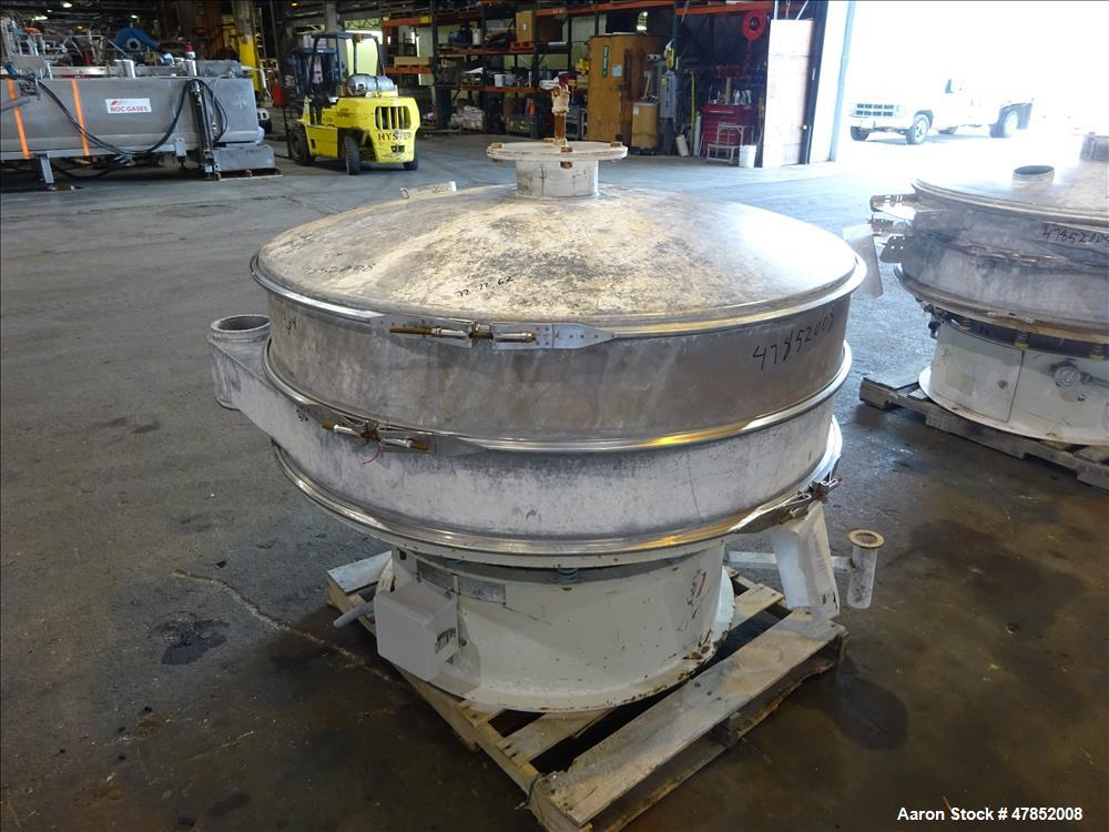 """Used- Sweco 60"""" Vibro Energy Separator, Model LS60-D88, 304 Stainless Steel."""