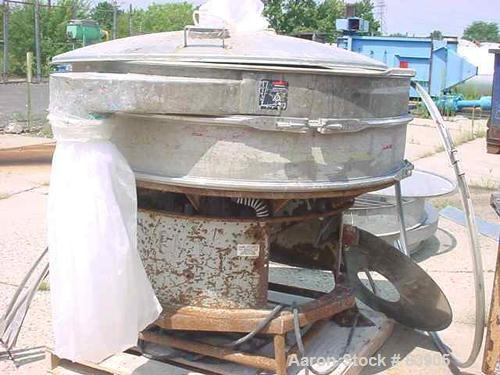 USED: Sweco screener model LS60. Stainless steel, 2 deck, open top. 2.5 hp motor, 3 phase, 1200 rpm.