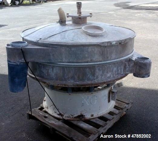 "Used- Sweco 60"" Vibro Energy Separator, Model LS60C88, Stainless Steel."