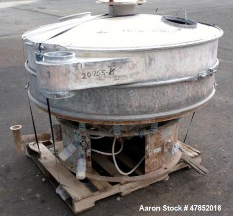 "Used- Sweco 60"" Vibro Energy Separator, Model LS60C, Stainless Steel."
