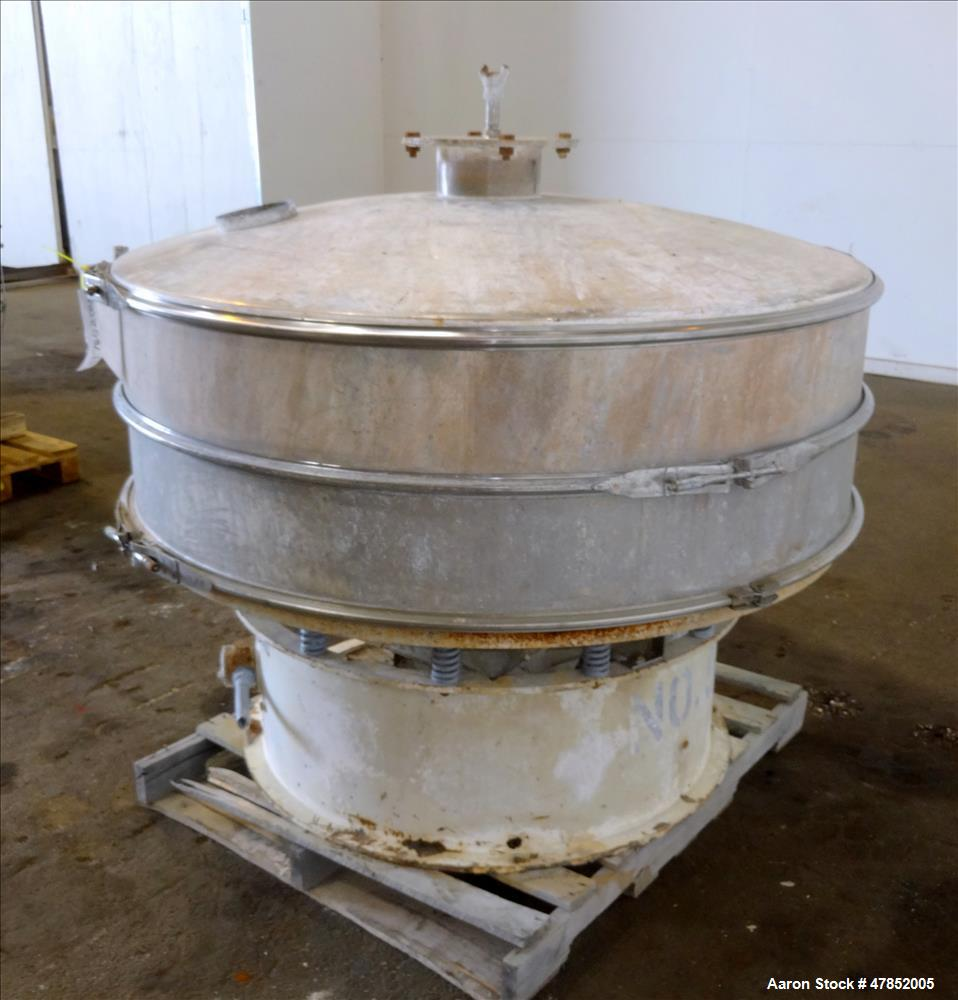 "Used- Sweco 60"" Vibro Energy Separator, Model LS60CCC, Stainless Steel."