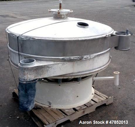 "Used- Sweco 60"" Vibro Energy Separator, Model LS60D88, Stainless Steel."