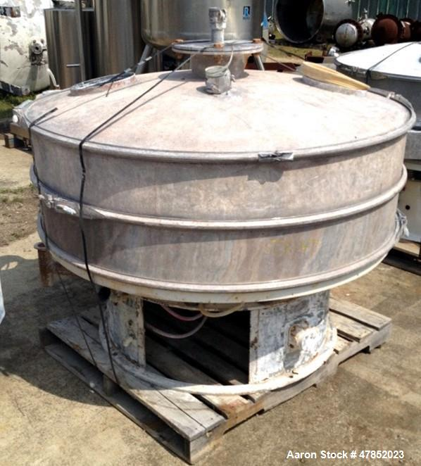 """Used- Sweco 60"""" Vibro Energy Separator, Model LS60S88, Stainless Steel."""