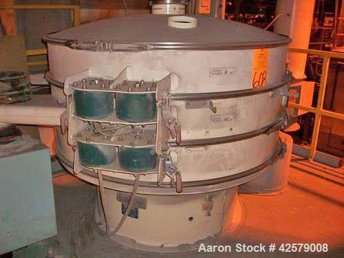 "Used- Sweco Separator, 60"" diameter, model QC60C388, carbon steel, 2 deck."