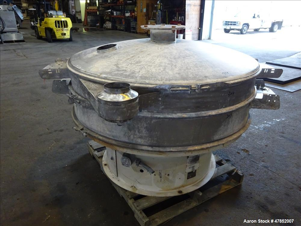 "Used- Sweco 60"" Vibro Energy Separator, Model QC60S8156, Stainless Steel."