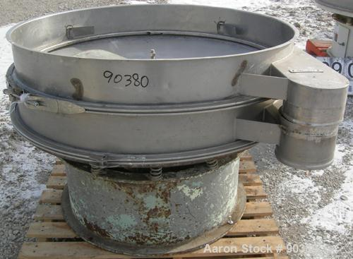 """USED: Sweco Screener, Model S48S86, 304/316 stainless steel.48"""" diameter, single deck, 2 separation.No top cover or screens...."""
