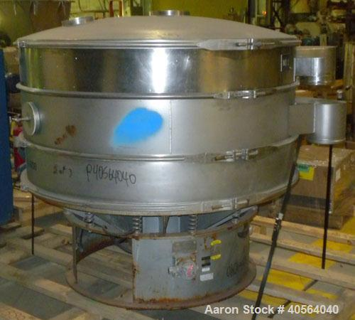 """Used- Sweco Screener, Model S60S88, 304 stainless steel. 60"""" diameter, double deck, 3 separation. 316 stainless steel top co..."""