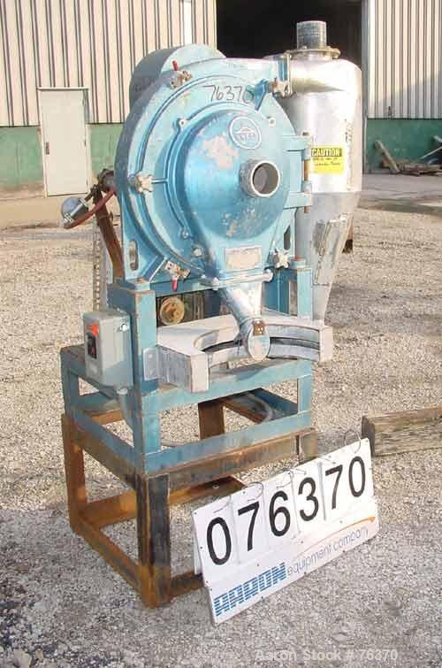 "USED: Sweco turbo screen air classifier, model TS-18, stainless steel.18"" diameter screen. Rotating air wand, radial fan. 3""..."
