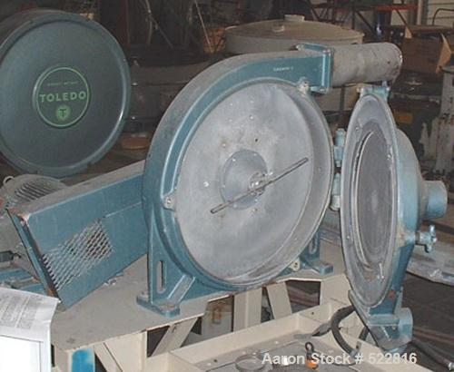 """USED: Sweco centrifugal screener, model TS18, with 3 hp motor. 4"""" inlet, 4"""" outlet, 3"""" discharge. Aluminum and stainless ste..."""